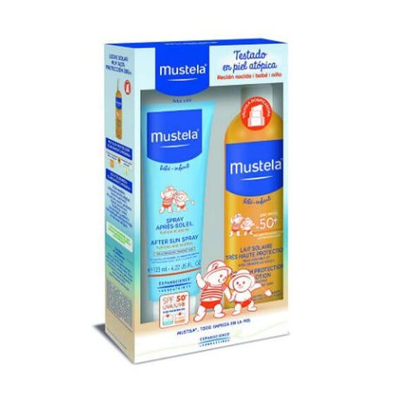 PACK PROTECCIÓN BEBÉS Y NIÑOS LECHE SOLAR 300 ml + AFTERSUN 125 ml de Mustela