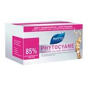 PHYTOCYANE ANTI-CAIDA ESTIMULADOR  (-50%POR LA COMPRA DE 2 Uds) 12 viales de Phyto