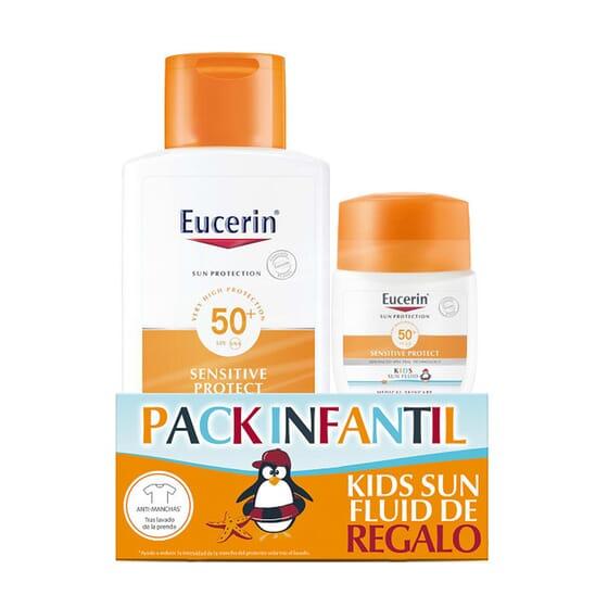 EUCERIN SUN LOÇÃO SENSITIVE PROTETOR INFANTIL SPF50+ 150ml + Pocked Size.