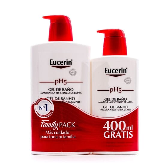 EUCERIN PH 5 SKIN PROTECTION GEL DE BAÑO 1L + 400 ml GRATIS