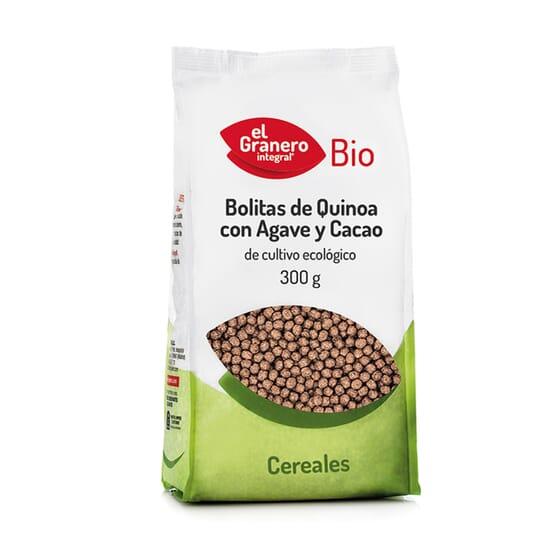 Bolitas de Quinoa con Agave y Cacao Bio 300g de El Granero Integral