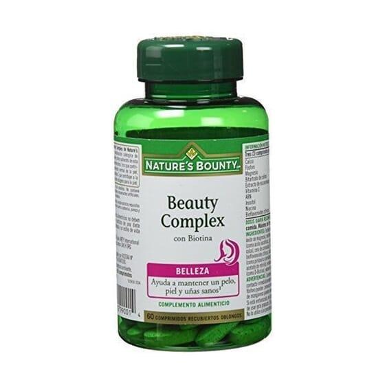 BEAUTY COMPLEX COM BIOTINA 60 Tabs da Natures Bounty.
