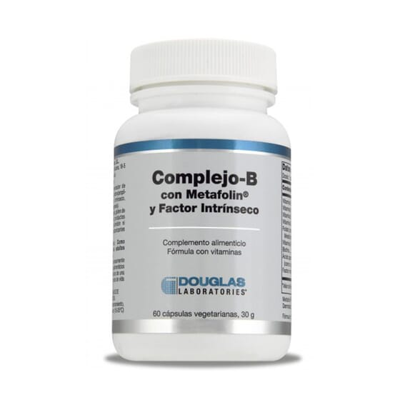 Complexo B Com Metafolín E Factor Intrínseco 60 VCaps da Douglas Laboratories