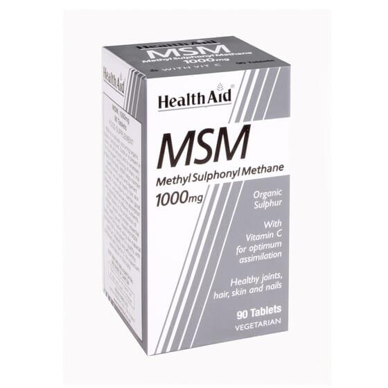 Msm Metilsulfonilmetano 1000 mg 90 Tabs di Health Aid
