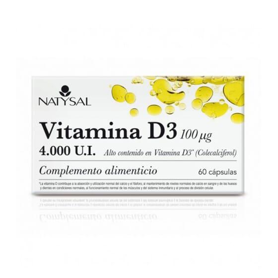 Vitamina D3 100 ug 60 Caps de NATYSAL