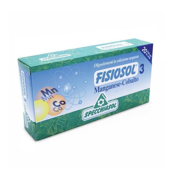 Fisiosol 3 Magnésio Cobalto  20 Frascos da Specchiasol