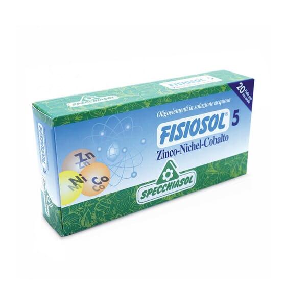 Fisiosol 5 Zinc Niquel Cobalto  20 Frascos da Specchiasol