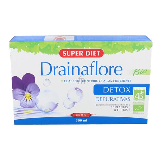 DRAINAFLORE DETOX BIO 20 Ampollas de 15ml de Super Diet.