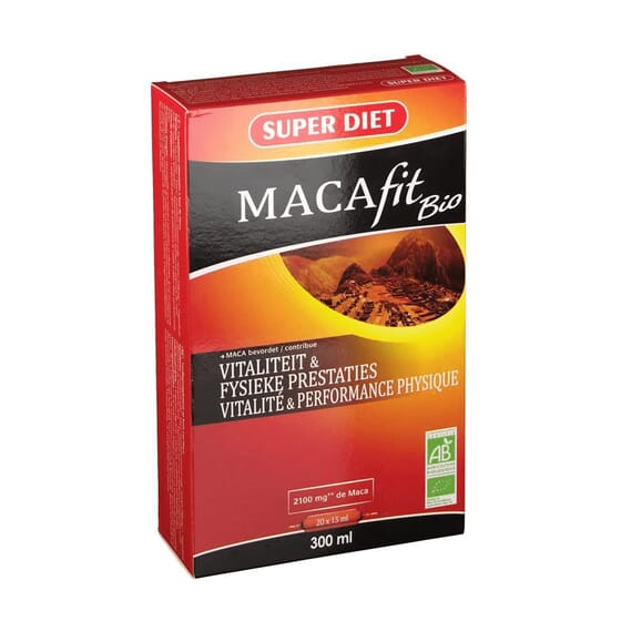 MACAFIT BIO 20 Ampolas de 15ml da Super Diet.