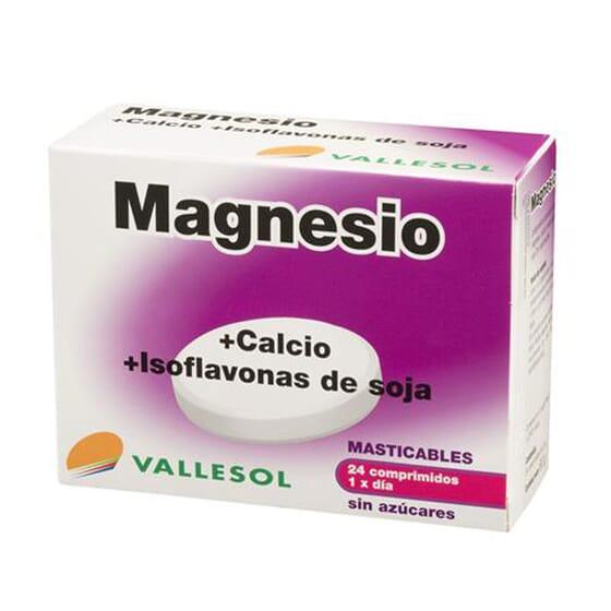 MAGNÉSIO + CÁLCIO, ISOFLAVONAS DE SOJA 24 Tabs da Vallesol