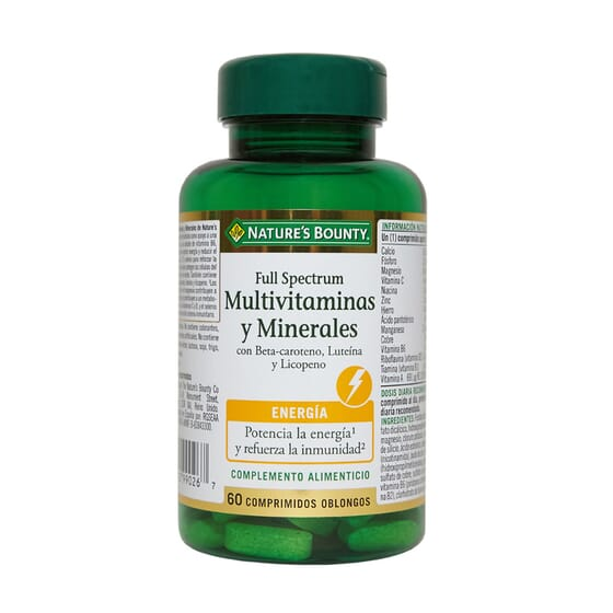 FULL SPECTRUM MULTIVITAMINAS E MINERAIS 60 Tabs da Nature's Bounty