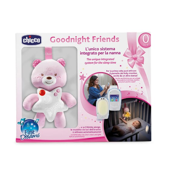 Baby Monitor Audio Goodnight Friend con Pannello da Culla Rosa 1 Ud de Chicco