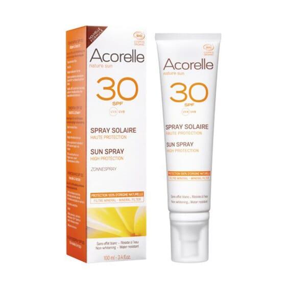 SPRAY SOLAR SPF30 CARA Y CUERPO 100 ml de Acorelle