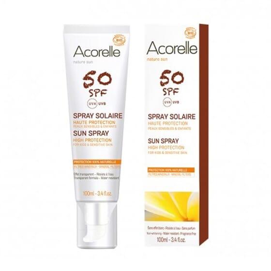 SPRAY SOLAR SPF50 PIELES SENSIBLES Y NIÑOS 100 ml de Acorelle