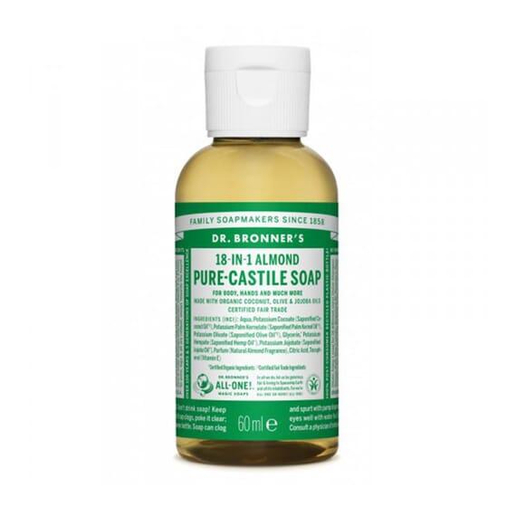 SAVON LIQUIDE 18-IN-1 AMANDE 60 ml de Dr. Bronners