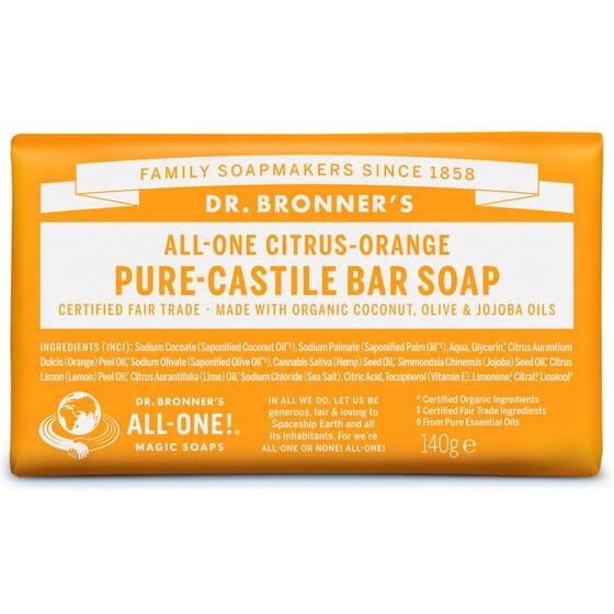SAVON SOLIDE AGRUMES 140 g Dr. Bronner's