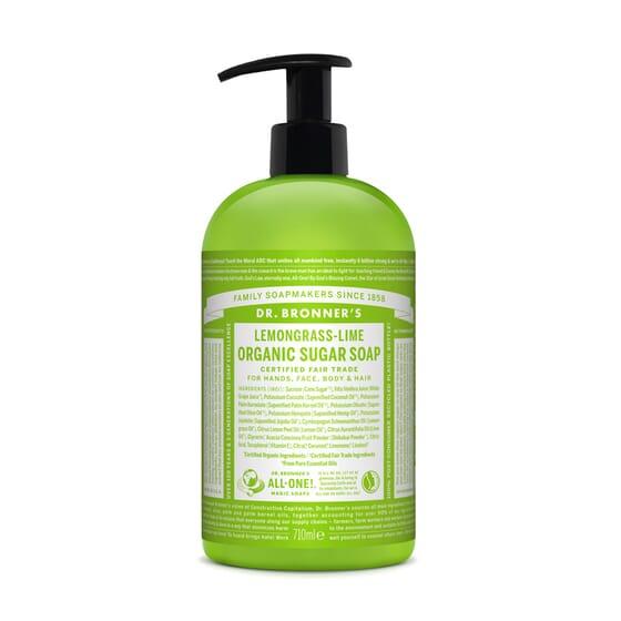 Sabonete De Açúcar Orgânico De Lemongrass-Lima  355 ml de Dr Bronners