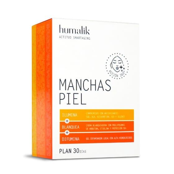 HUMALIK MANCHAS PIEL PLAN 30 DÍAS 30 Tabs + CREMA 60ml+ GEL 150ml