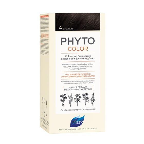PHYTOCOLOR COLORACIÓN PERMANENTE Nº 4 CASTAÑO 1 Pack de Phyto París