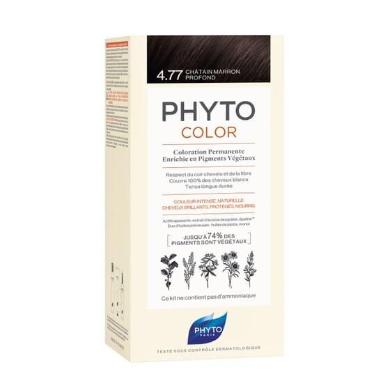PHYTOCOLOR COLORACIÓN PERMANENTE Nº 4.77 CASTAÑO MARRÓN INTENSO 1 Pack de Phyto París