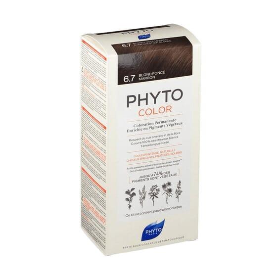 PHYTOCOLOR COLORACIÓN PERMANENTE Nº 6.7 RUBIO OSCURO MARRÓN 1 Pack de Phyto Paris