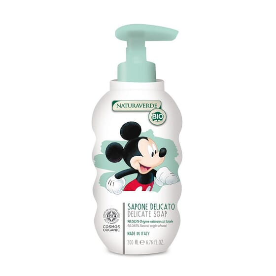 SABONETE DELICADO MICKEY MOUSE BIO 200ml da Naturaverde