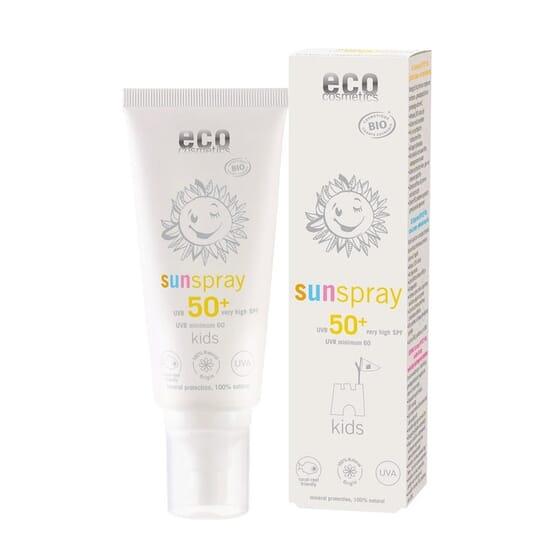 SPRAY SOLAR BEBÉ E CRIANÇAS ECO SPF50+ 100ml da Eco Cosmetics.