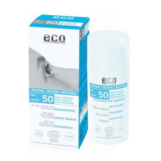 PROTETOR SOLAR NEUTRAL SPF50 100ml da Eco Cosmetics.