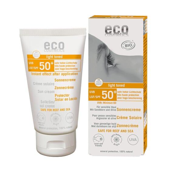 PROTETOR SOLAR COM UM TOQUE DE COR ECO SPF50+ 75ml da Eco Cosmetics.