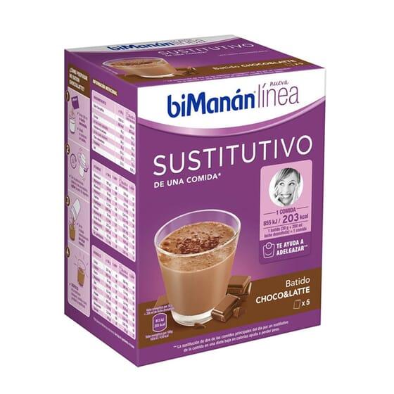 Commencez à préserver votre poids avec le Milk-shake Choco & Latte de Bimanán Línea.