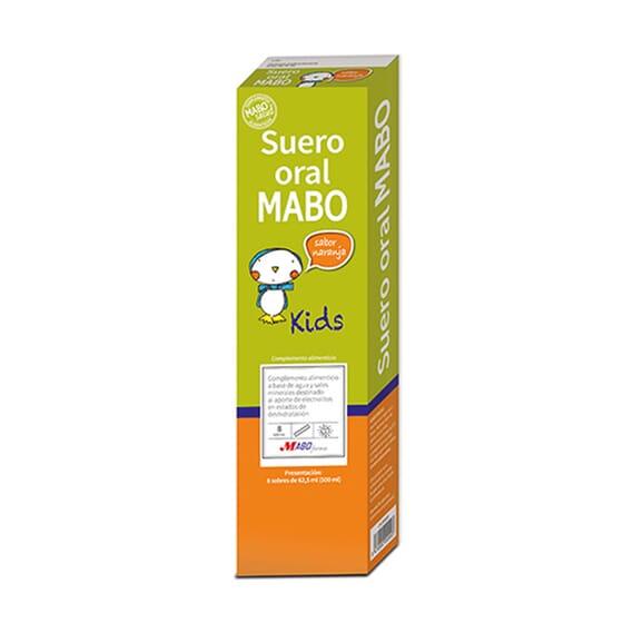 SORO ORAL MARINHO KIDS LARANJA 62 ml 8 Saquetas da Mabo Salud