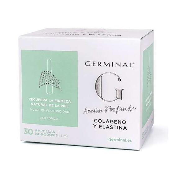 AÇÃO PROFUNDA COLÁGENO E ELASTINA 30 Ampolas de 1ml da Germinal.