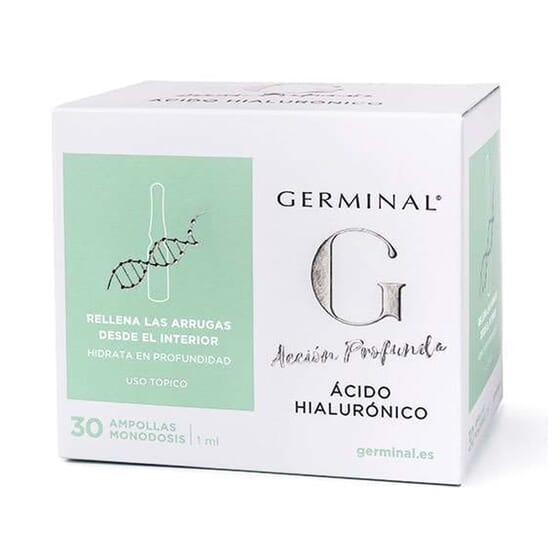 AÇÃO PROFUNDA ÁCIDO HIALURÓNICO 30 Ampolas de 1ml da Germinal.