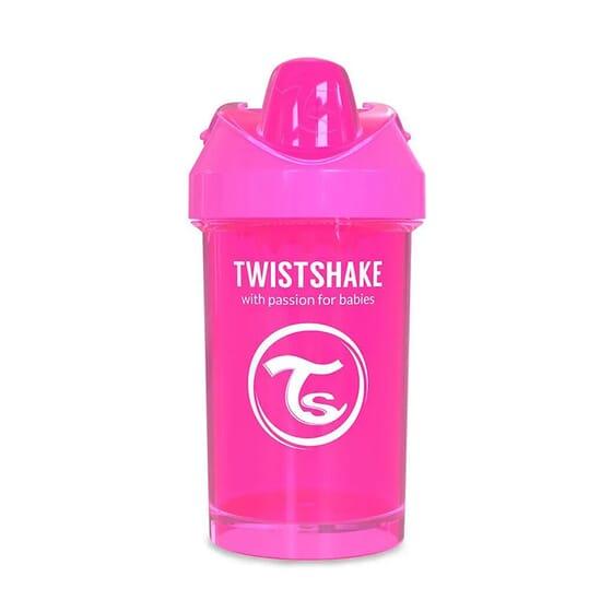 COPO DE APRENDIZAGEM CRAWLER CUP 8+M ROSA 300ml da Twistshake