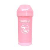 BICCHIERE APPRENDIMENTO KID CUP 12+M ROSA PASTELLO 360 ml de Twistshake