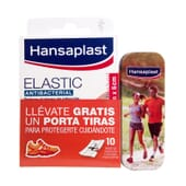 PENSOS ELASTIC ANTIBACTERIAL + PORTA-PENSOS 10 Unids da Hansaplast