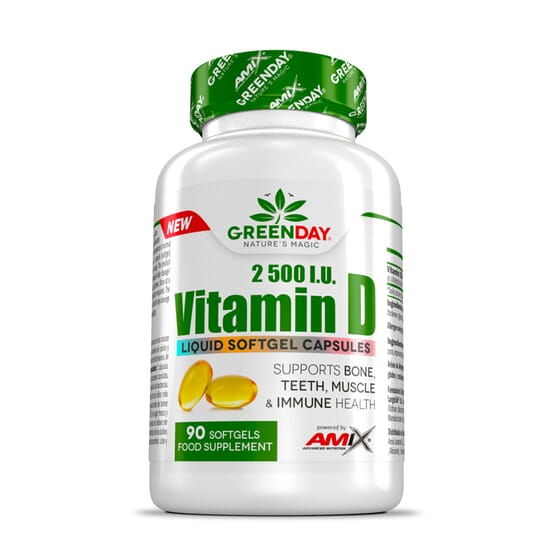 VITAMIN D3 2500 I.U. 90 Perlas de Amix Greenday