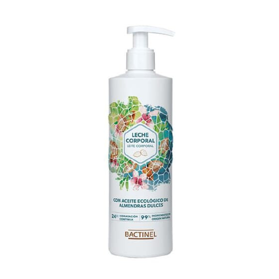 LEITE CORPORAL AMÊNDOAS DOCES NATURAL 24H 300ml da Bactinel