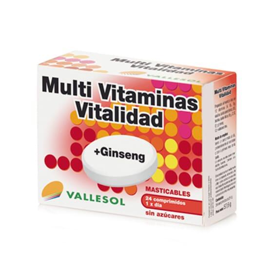 MULTI VITAMINAS + GINSENG 24 Tabs da Vallesol.