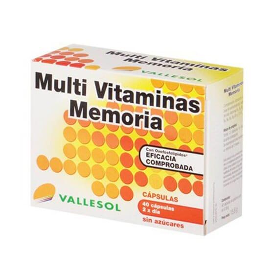 MULTI VITAMINAS MEMORIA 40 Caps da Vallesol.