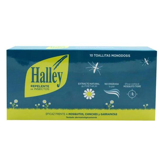 HALLEY REPELENTE INSETOS TOALHITAS 10 Un