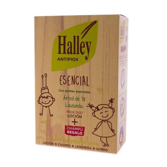 HALLEY ANTIPIOX ESSENCIAL CHAMPÔ 100ml + LOÇÃO 100ml + PENTE + GORRO 1 Pack da Halley