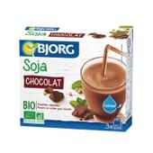 Bebida Mini De Soja Com Chocolate E Cálcio Bio 250 ml 3 Unds da Bjorg