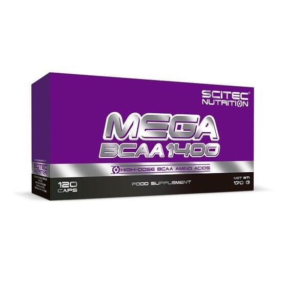 Mega BCAA 1400 para aumentar el rendimiento y el desarrollo muscular.