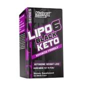 LIPO 6 BLACK KETO 60 Caps de Nutrex.