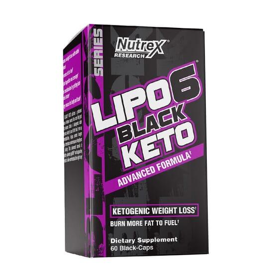 LIPO 6 BLACK KETO 60 Caps da Nutrex.