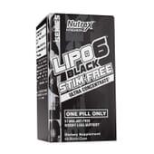 LIPO 6 BLACK STIM-FREE 60 VCaps de Nutrex