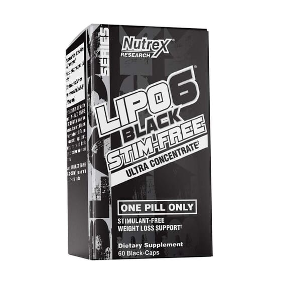 LIPO 6 BLACK STIM-FREE 60 VCaps da Nutrex