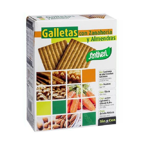 GALLETAS DE ZANAHORIA Y ALMENDRAS 490g de Santiveri.