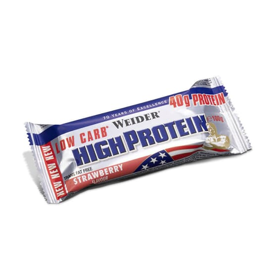 40% LOW CARB HIGH PROTEIN BAR 1 Barre de 100g - WEIDER